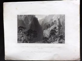 Bartlett Switzerland C1838 Print. Pass of the Guill, Mount Dauphin & Quyras